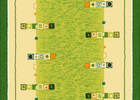 Бязь о/м пл 120 рис 156-3 Мираж зеленый