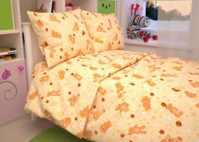 Бязь о/м пл 140 рис 350-4 Мишки персиковые