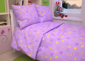 Бязь о/м пл 140 рис 366-5 Жирафики фиолет