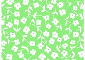 Бязь о/м пл 120 рис 368-3 Цветочки зеленые