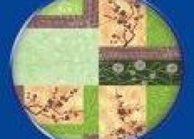 Бязь о/м пл 120 рис 388-2 багряная осень зеленая