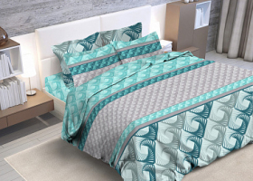 Комплект постельного белья евро бязь ГОСТ Геометрия