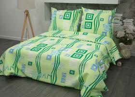 Комплект постельного белья 1,5сп бязь Стандарт Пикассо зеленый