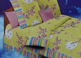 Комплект постельного белья 1,5сп бязь Стандарт Цветение сакуры