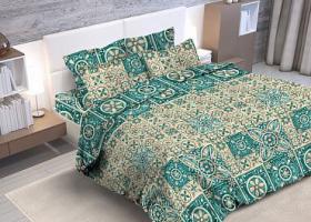 Комплект постельного белья евро из бязи Стандарт Лаурита
