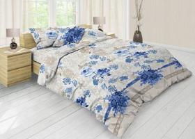 Комплект постельного белья евро из бязи Стандарт Льняной винтаж