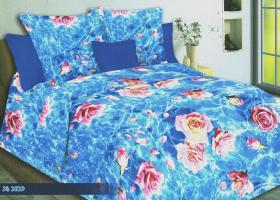 Комплект постельного белья 1,5сп бязь Стандарт Розы в воде