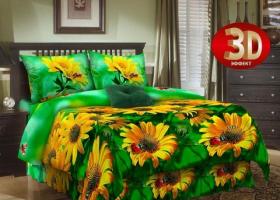 Комплект постельного белья семейный из бязи Стандарт Цветок солнца