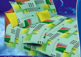 Комплект постельного белья 1,5сп бязь Стандарт Миранда зеленая