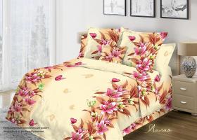Комплект постельного белья 1,5сп бязь Стандарт Лилия 1