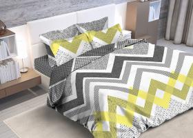 Комплект постельного белья евро из бязи Стандарт Зигзаг 1