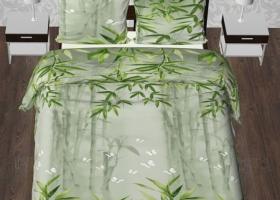 Комплект постельного белья евро из бязи Стандарт Бамбуковая роща