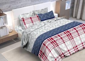 Комплект постельного белья евро из бязи Стандарт Селина