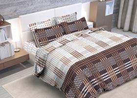 Комплект постельного белья евро из бязи Стандарт Шахматка