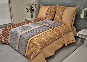 Комплект постельного белья 1,5сп бязь Стандарт Ажур оранжевый