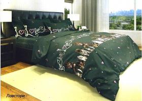 Комплект постельного белья 2сп бязь Стандарт Лав Стори