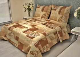 Комплект постельного белья 1,5сп бязь Стандарт Вензель изысканный бежевый
