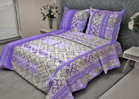 Комплект постельного белья 1,5сп бязь Стандарт Кружево фиолетовое