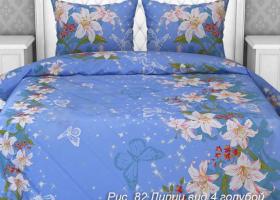 Комплект постельного белья 1,5сп бязь Стандарт Лилии 4