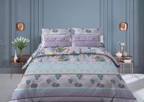 Комплект постельного белья евро из бязи Стандарт Соцветие 7