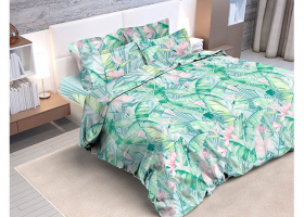 Комплект постельного белья евро бязь Стандарт Банановый рай