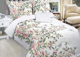 Комплект постельного белья 1,5сп бязь Cтандарт Яблони в цвету