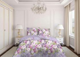 Комплект постельного белья евро бязь Стандарт Воздушный поцелуй