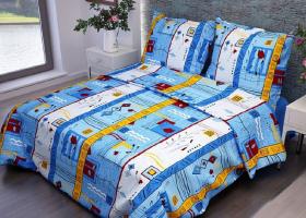 Комплект постельного белья 1,5сп бязь Cтандарт Стамбул синий