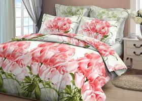 Комплект постельного белья евро из бязи Стандарт Коллекционные розы