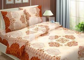 Комплект постельного белья 2сп бязь Традиции текстиля Королевский коричневый