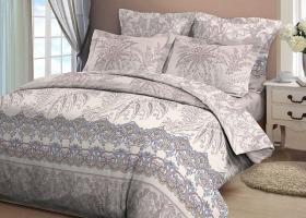 Комплект постельного белья евро из бязи Стандарт Пальмира