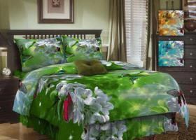 Комплект постельного белья 1,5сп бязь ГОСТ Волшебный сад