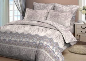 Комплект постельного белья семейный из бязи Стандарт Пальмира 2