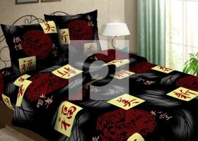 Комплект постельного белья 1,5сп бязь Традиции текстиля  Иероглифы