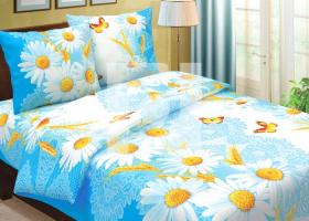 Комплект постельного белья 1,5сп бязь Традиции текстиля Ромашки