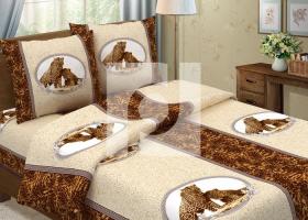 Комплект постельного белья 1,5сп бязь Традиции текстиля  Леопарды