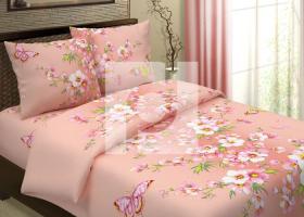 Комплект постельного белья 1,5сп бязь Традиции текстиля  Сакура на розовом