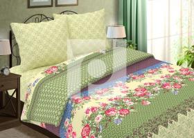 Комплект постельного белья семейный из бязи Традиции текстиля Лаура