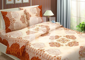 Комплект постельного белья 1,5сп бязь Традиции текстиля  Королевский коричневый