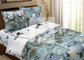 Комплект постельного белья евро из бязи Традиции текстиля Окинава