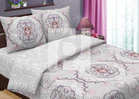 Комплект постельного белья евро из бязи Традиции текстиля Анжелика