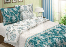 Комплект постельного белья евро из бязи традиции текстиля Верона