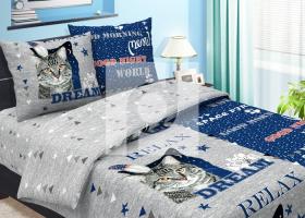 Комплект постельного белья 1,5сп бязь традиции текстиля Пират синий