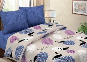 Комплект постельного белья евро из бязи традиции текстиля Тропикана