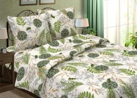 Комплект постельного белья семейный из бязи традиции текстиля Папоротник