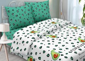 Комплект постельного белья евро из бязи традиции текстиля Авокадо