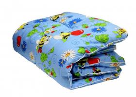Одеяло ватное детское в бязи чемодан