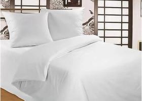Комплект постельного белья Евро 220х240 поплин отбеленный