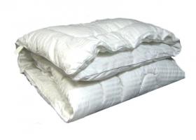 Одеяло Лебяжий пух 1,5сп Страйп сатин