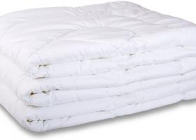 Одеяло полиэфирное 1,5сп бязь отбеленная